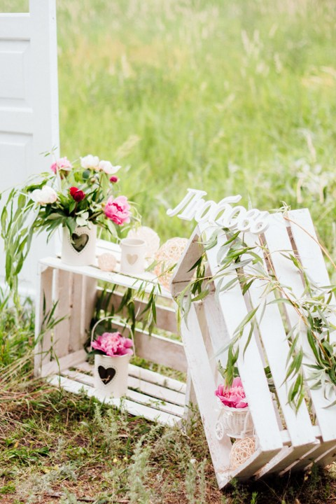 Декоративные ящички для церемонии или фотосессии