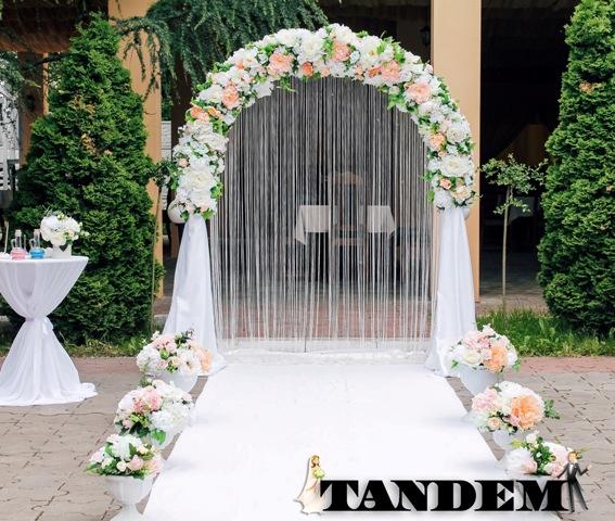 Свадебная арка - Персиковая нежность