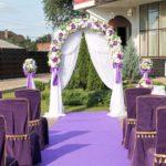 Свадебная арка - Фиолет