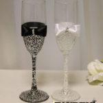 Бокалы - Жених и Невеста, black and white