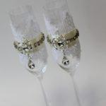 свадебные бокалы роскошь
