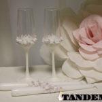Свадебные аксессуары с лепкой - Pink Roses