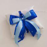 Подушечка сине-голубая