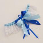 Подвязка невесты, сине-голубая