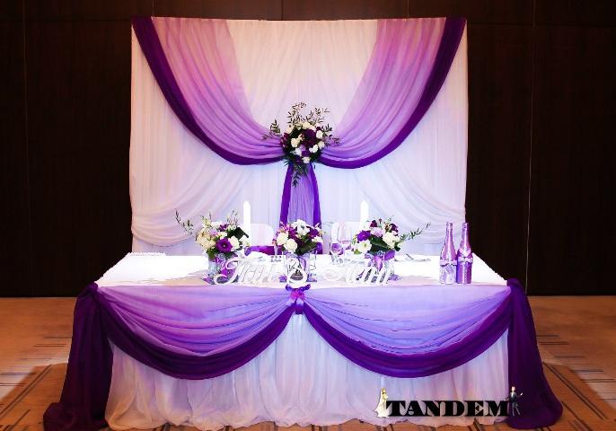 Ширма в стиле Омбре - фиолет
