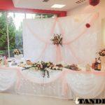Ширма на свадьбу с живыми цветами и подсветкой
