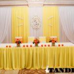 Свадебная ширма - лимонная