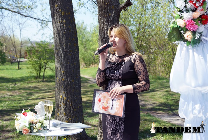 Гончаренко Татьяна - ведущая нежных, красивых выездных церемоний