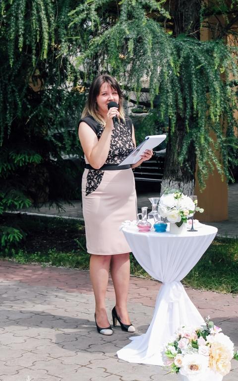 Татьяна Гончаренко - ведущая выездной церемонии бракосочетания
