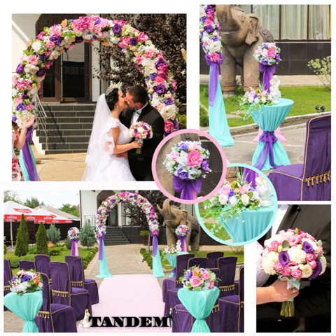 Розово-фиолетовая свадьба