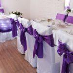 Бант - атласный, фиолетовый